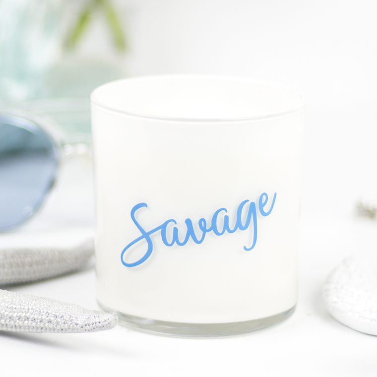Savage Quote Jar in Fireside Scent