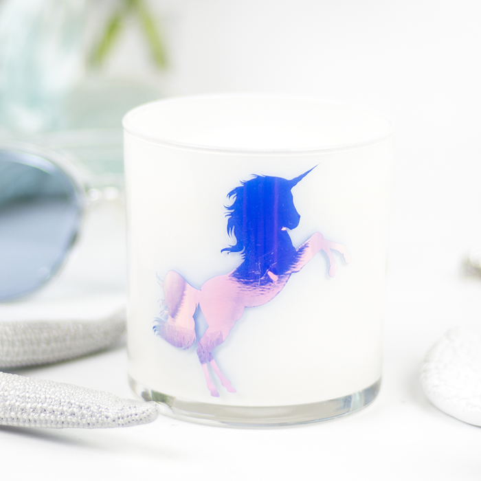 Unicorn Graphic Jar in Candy Apple Scent
