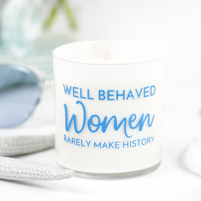 Well Behaved Women Quote Jar in Violet Lime Scent