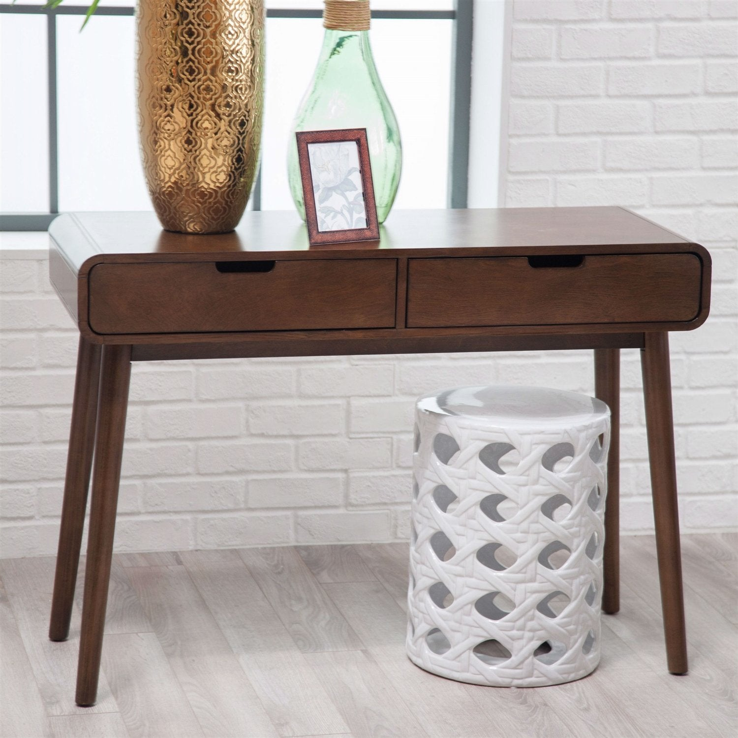 Console sofa tables modern classic solid wood console sofa table in walnut wood finish geotapseo Images