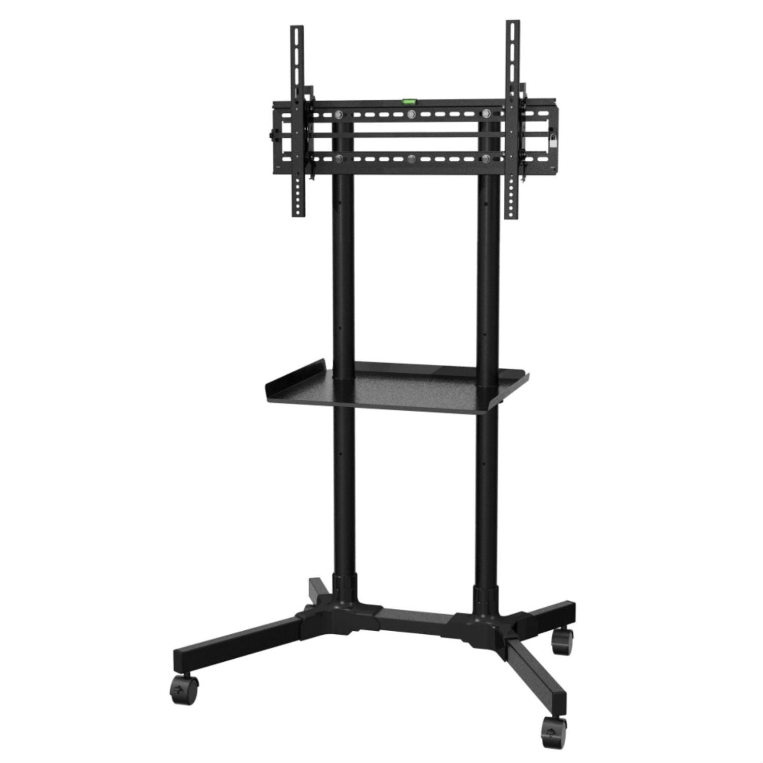 Sturdy Rolling Tv Stand Trolley Cart With Shelf For Flat Screen Tvs 32