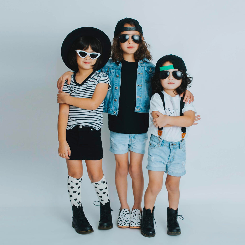 Kids denim and sunglasses
