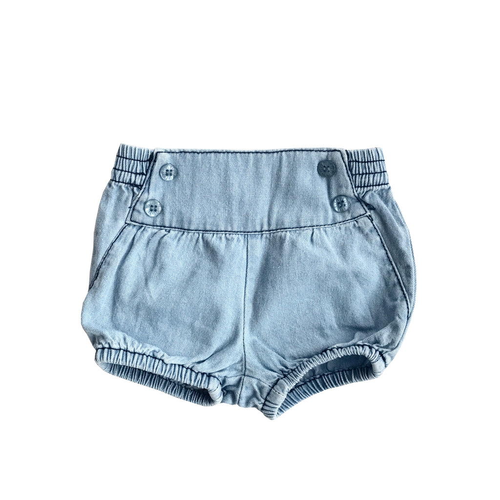 GIRLS HIGH WAISTED DENIM SHORTS