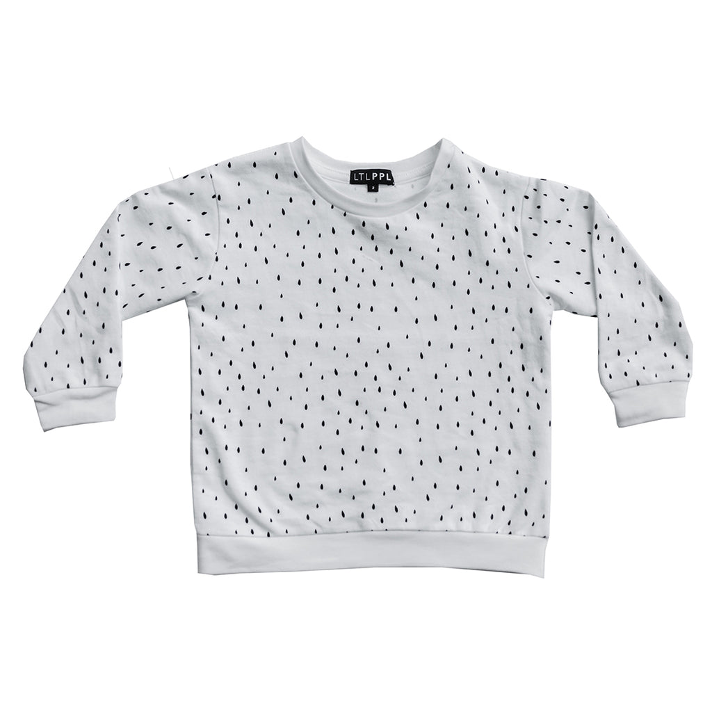 Organic cotton kids clothing printed jumper
