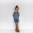 DENIM BUTTON ROMPER