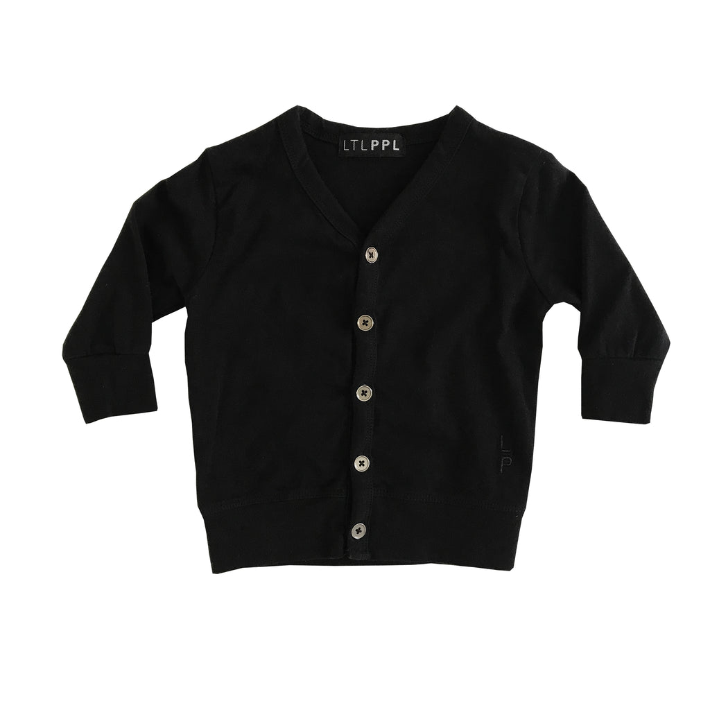 Organic cotton unisex kids black cardigan