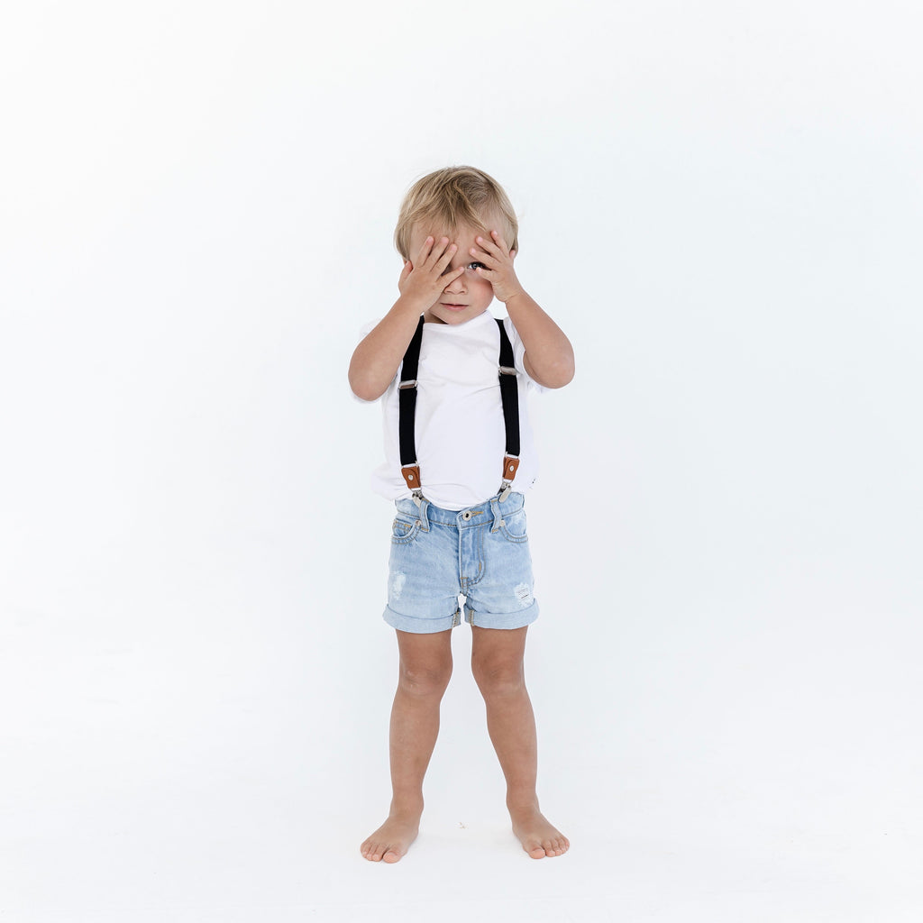 Kids blue denim shorts