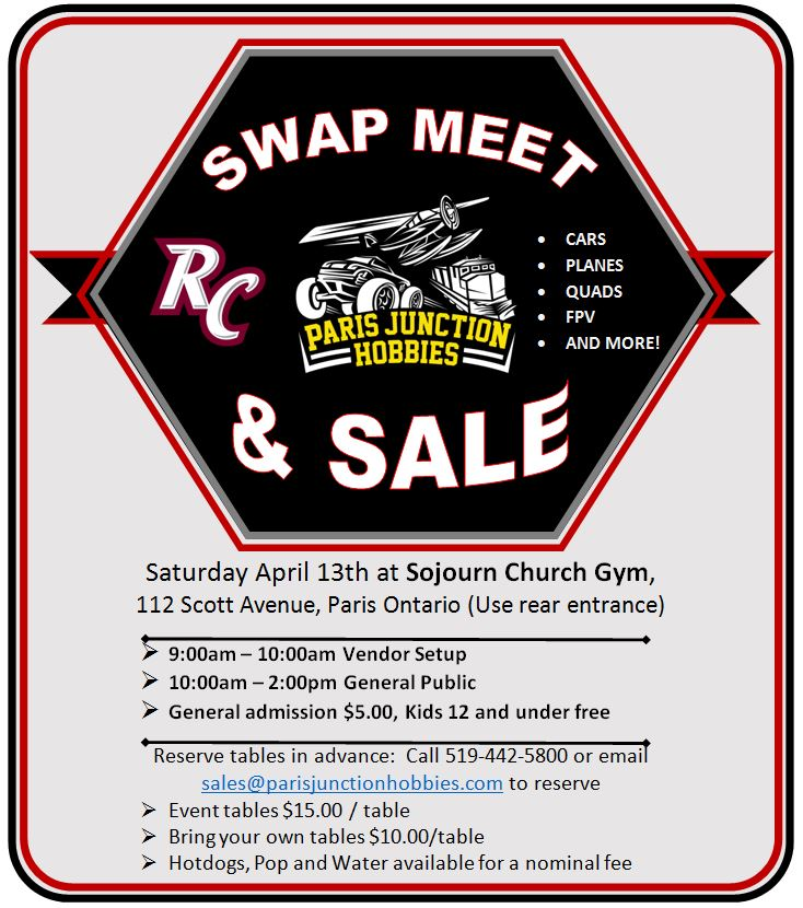 RC Swap Meet and Sale April 13