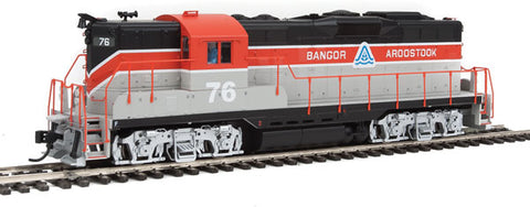 EMD GP9 Phase I - LokSound Select DCC & Sound Bangor & Aroostook #76