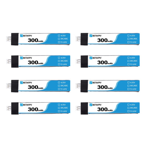 300mAh 1S 30C HV Battery (8PCS)