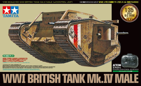 1/35 WWI British Tank Mk.IV Male (w/Control Unit)