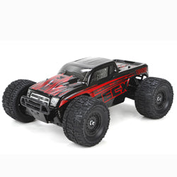 Ruckus 1/18 4WD Monster Truck: Black/Red RTR