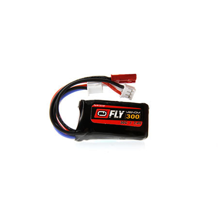 2S 7.4V 300mAh 30C Lipo Battery: JST + PH plug - 2 Pack