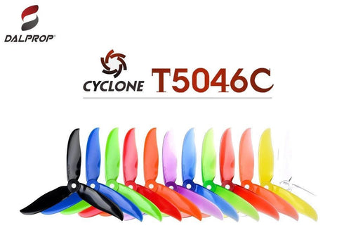 Dal Prop Cyclone V2 Tri Blade T5046C Propellers CW/CCW 1 Pack (4 Pieces)