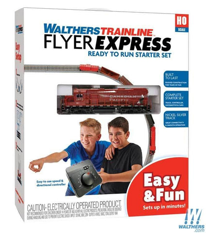 Walthers Trainline Flyer Express HO Train Set - Standard DC