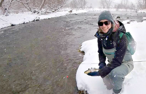 Flyfishing in winter