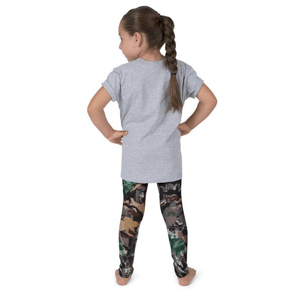 Little Girls Forest Camo Leggings