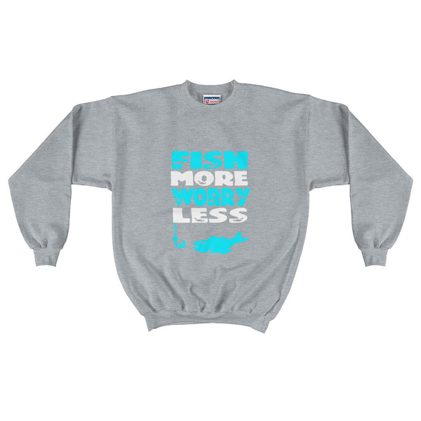 Fish More Worry Less Crewneck