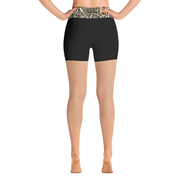 Black/Camo Yoga Shorts