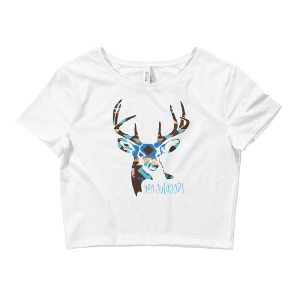 Tribal Deer Crop Tee