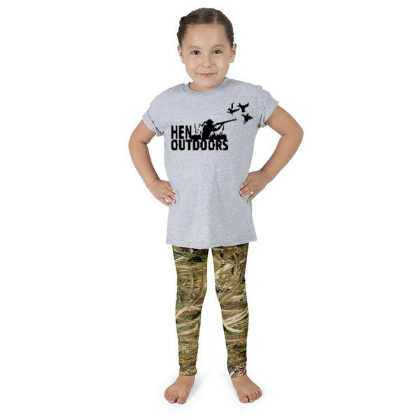 Little Girls Marsh Camo Leggings