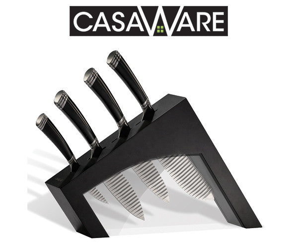 Congratulations: Hope M. TN  - Winner of our casaWare Groovetech 5pc Knife Block Set (Black) that ended 4-4-17.