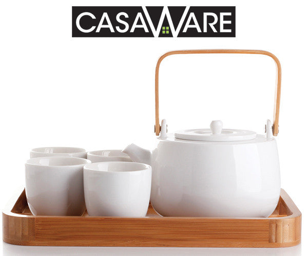 Win a casaWare Serenity 7-Piece Tea Pot Set, a $70 value!