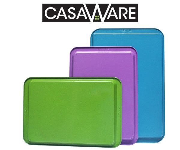 Win a casaWare Bakeware, 3pc Multi-Color and Size Cookie Sheet / Jelly Roll Pan Set. $35 value