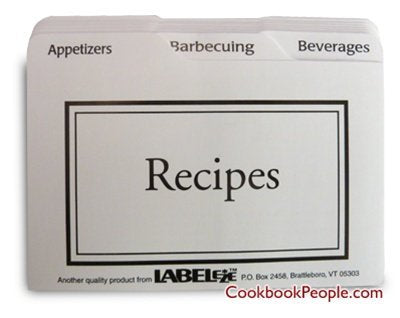 Label-eze Recipe Card Divider 3-by-5-Inch Set