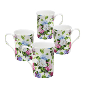 Gracie Bone China Mug Set of 4 (10-Ounce, Hydrangea Mist) - LaPrima Shops ®