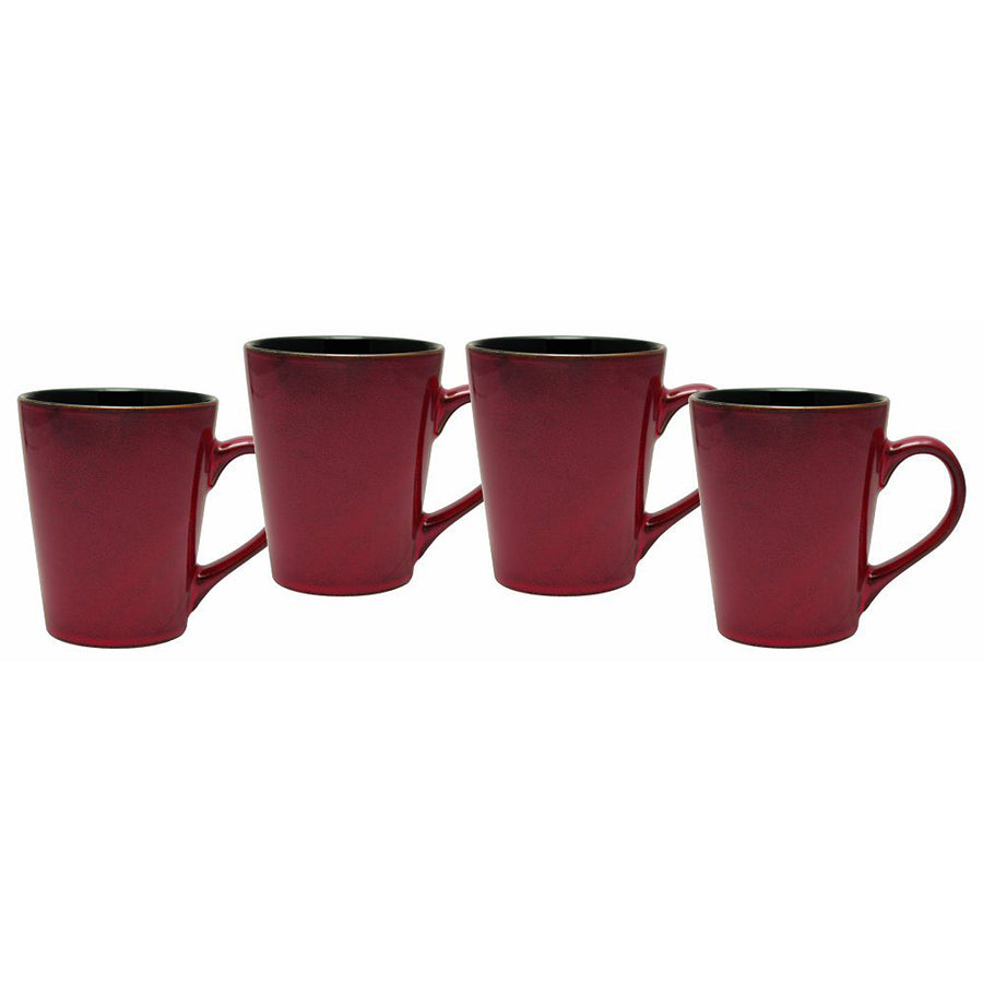 Culver Serenity Cafe Ceramic Mug, 12-Ounce, Russet, Set of 4 - LaPrima Shops ®