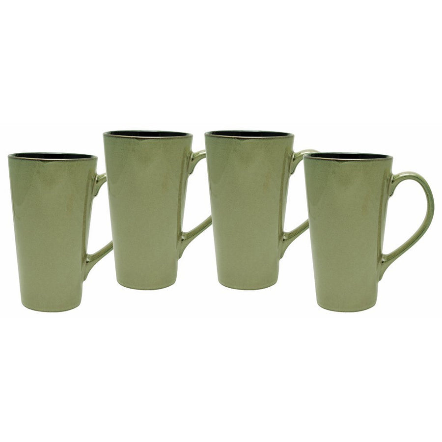 Culver Serenity Cafe Grande Ceramic Mug, 16-Ounce, Granite, Set of 4 - LaPrima Shops ®