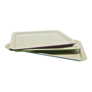casaWare 3pc Ceramic Coated Multi-Color and Size Cookie Sheet / Jelly Roll Pan Set - LaPrima Shops ®