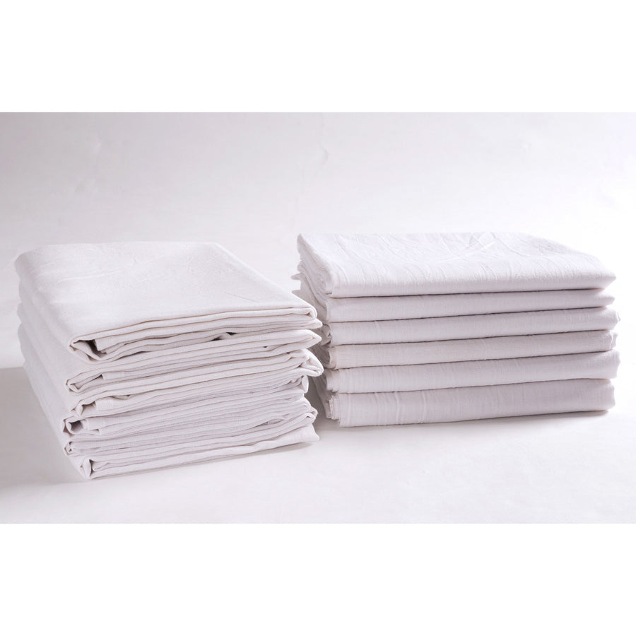KAF Home Set of 12 Flour Sack White Kitchen Towels, 100-Percent Cotton, Absorbent, Extra Soft (28 x 28-Inches) - LaPrima Shops ®