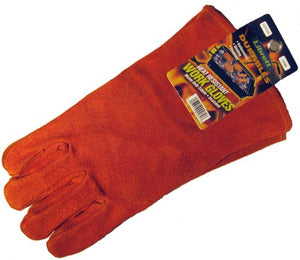 Librett Large Insulated Suede Leather Barbeque - Fireplace Gloves, Heat Resistant, Heavy Duty