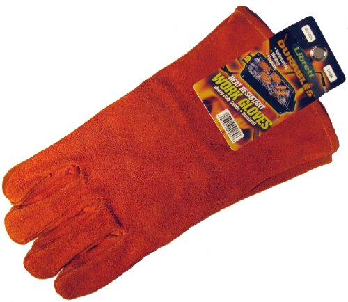 Librett Large Insulated Suede Leather Barbeque - Fireplace Gloves, Heat Resistant, Heavy Duty - LaPrima Shops ®
