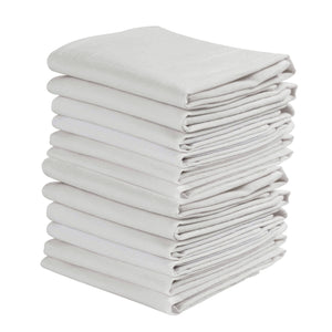 KAF Home Set of 12 Flour Sack White Kitchen Towels, 100-Percent Cotton, Absorbent, Extra Soft (20 x 30-Inches) - LaPrima Shops ®