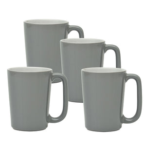 Culver SLAT Mug, 16-Ounce, Grey White, Set of 4 - LaPrima Shops ®