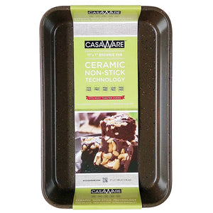 casaWare Toaster Oven Baking Pan 7 x 11-inch Ceramic Coated Non-Stick (Brown Granite) - LaPrima Shops ®