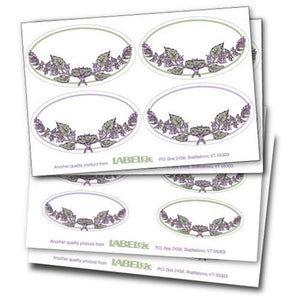 Label-eze Decorative Oval Labels (Rosemary Border) Set of 20