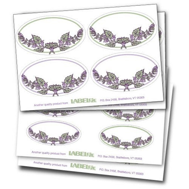Label-eze Decorative Oval Labels (Rosemary Border) Set of 20 - LaPrima Shops ®