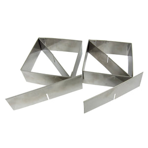 Multifunctional Pastry Cutter (2-Piece Set) - Heavy Gauge 18/10 Stainless Steel, (4-inch and 3.5-inch) with 2 Removable Blades, includes Recipes - LaPrima Shops ®