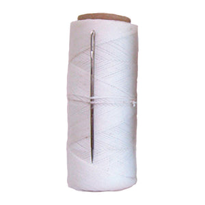 Librett Waxed Nylon Mending Twine with Needle 150-Feet White (No.3)