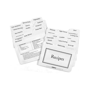 Set of 100 White and Red 1 x 2 Inch Freezer Labels
