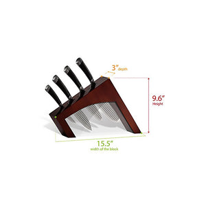 Casaware 5pc Cutlery Block Set (All Purpose, Chef, Serrated Utility, Paring, Cutlery Block) Espresso - LaPrima Shops ®