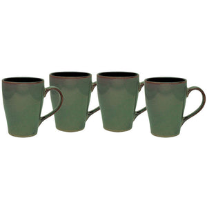 Culver 16-Ounce Sherwood Ceramic Mug, Willow Green, Set of 4 - LaPrima Shops ®