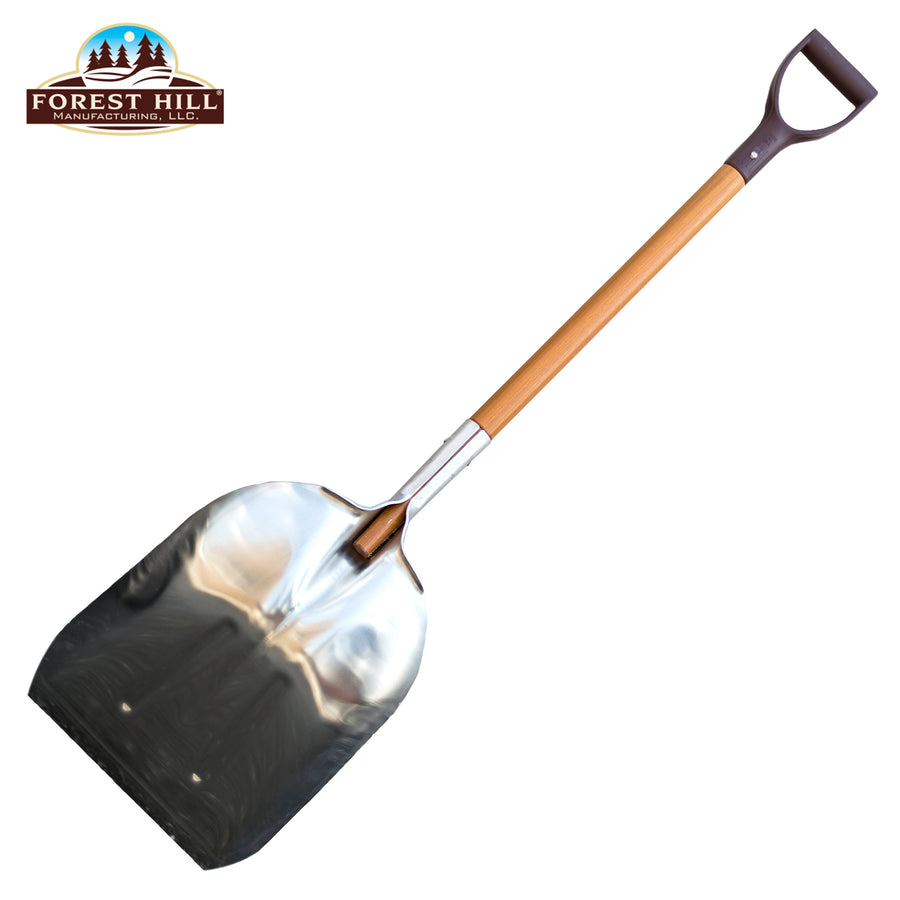 Super Tuff - The Ultimate Shovel - Forest Hill Manufacturing Aluminum Straight Edge Scoop Shovel (.125 Thick Aluminum, 52-Inch) - LaPrima Shops ®