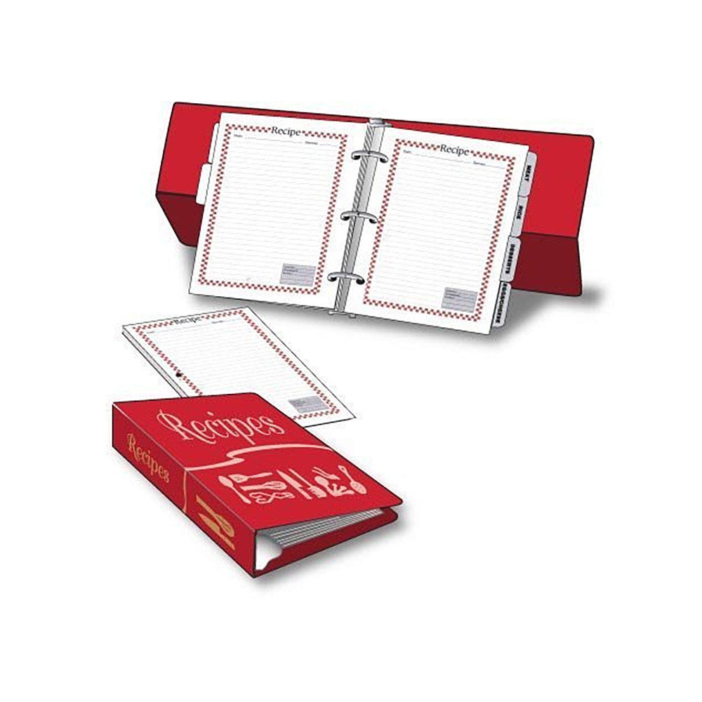 label eze 6 x 8 1 2 inch easel backed recipe book pages laprima