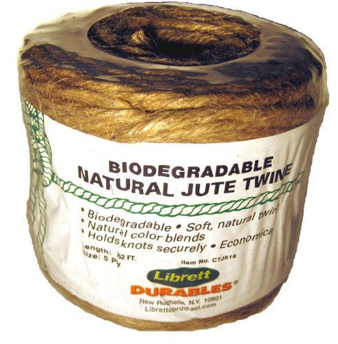 Librett Biodegradable Natural Jute Twine, 252 FT - 16oz - 5 Ply - LaPrima Shops ®