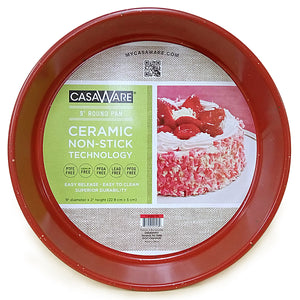 Coated NonStick 9-Inch Round Pan, Red Granite - LaPrima Shops ®